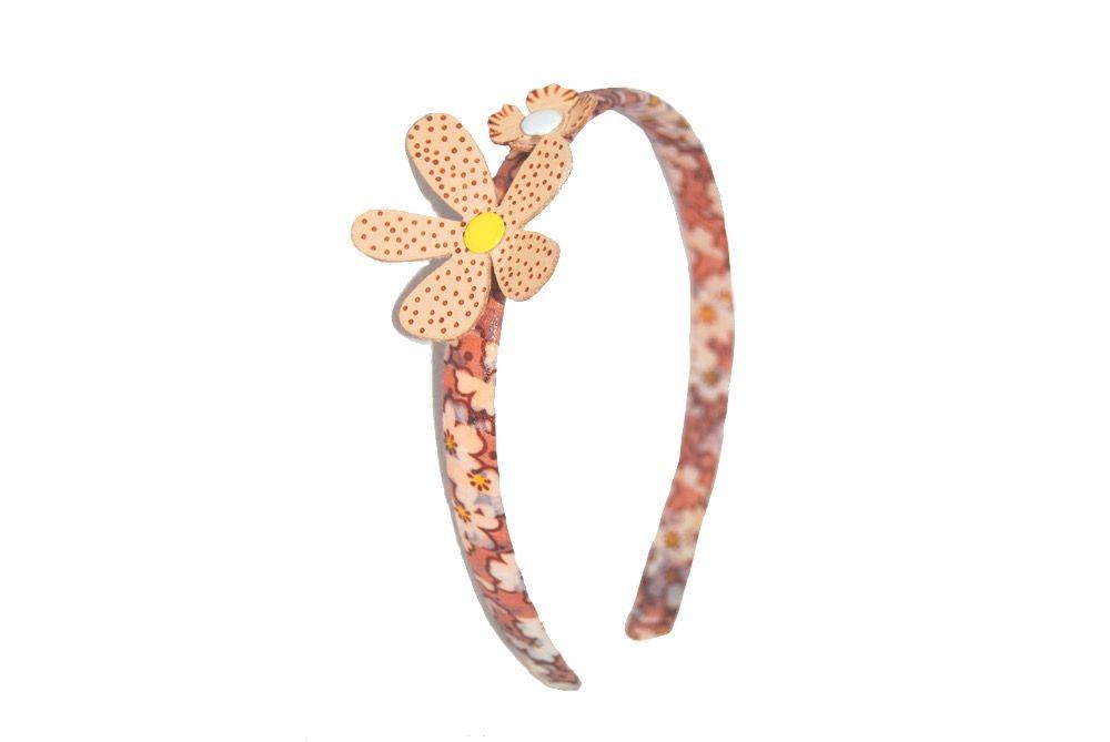 Diadema dos flores pintado a mano